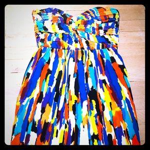 Colorful Shoshanna Strapless Dress